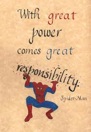 responsibility spider man