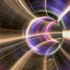 3D rendering Cosmic wormhole tunnel